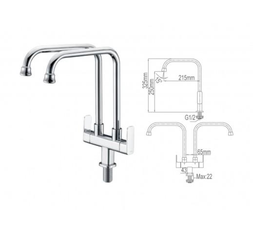 Kitchen Sink Tap 6025-C-SS
