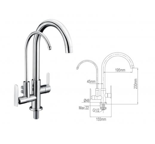 Kitchen Sink Tap 2029-C-SS