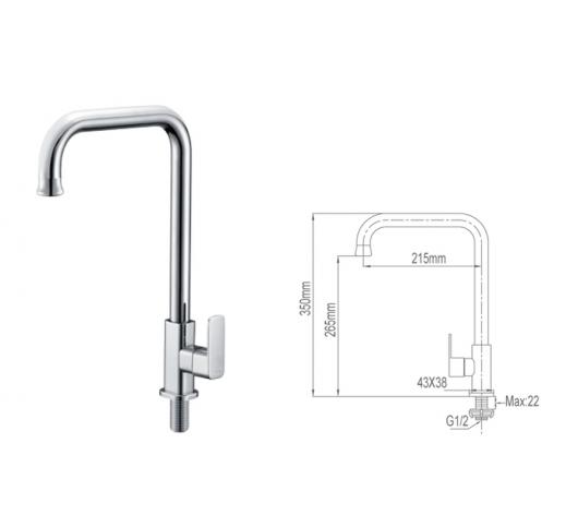 Kitchen Sink Tap 6029-C-SS